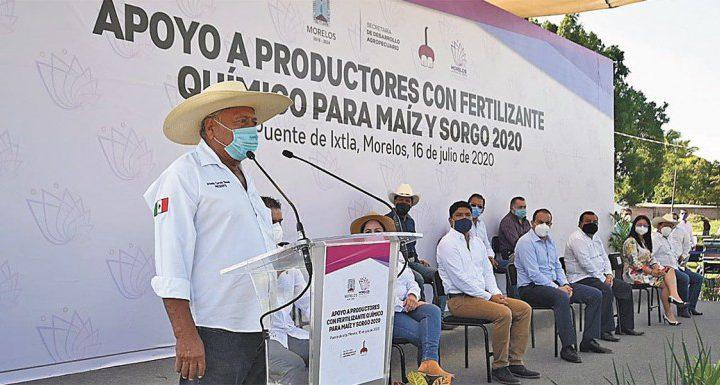 Dan banderazo a entrega de fertilizantes en Morelos
