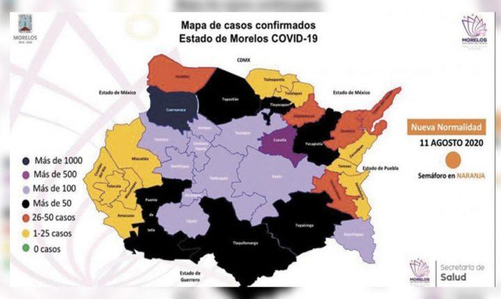 Registra Morelos ya 910 defunciones por COVID-19