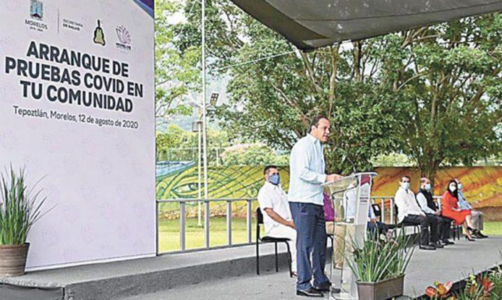 Diagnosticarán COVID-19 en rincones de Morelos