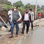 Revisan avances en obras de Tetela del Volcán