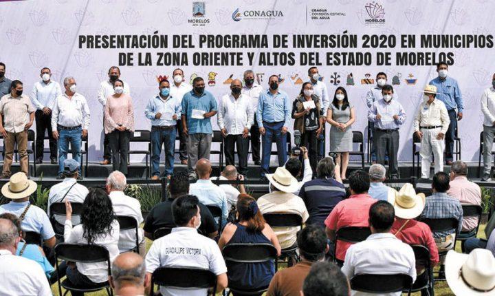 Invertirán 219 mdp en obras de municipios del oriente y Altos de Morelos