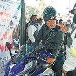 Ante accidentes de moto, Ayala arranca campaña para uso de casco