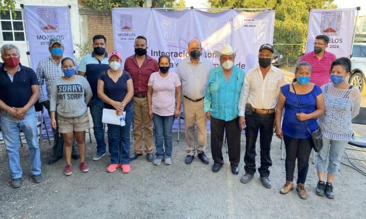 Continúa la CEAGUA con la integración de comités comunitarios en Cuautla