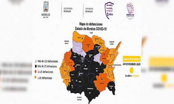 Registran en Morelos 96 nuevos casos de COVID-19